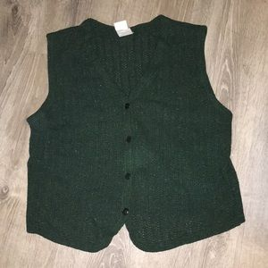 Mondi Forest Green Speckled Vest